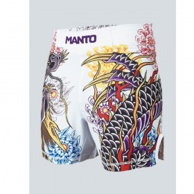 FIGHTSHORT MANTO MANTO X Krazy Bee WHITE