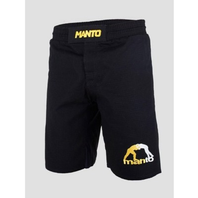 Pantaloncini BJJ MANTO RIPSTOP LOGO 4.0 NERO